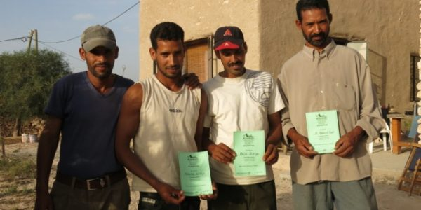 Local farmers with their permaculture design certificates.